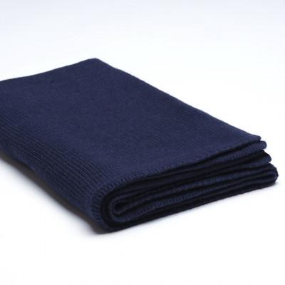 Überwurf Wollstrick | Marineblau