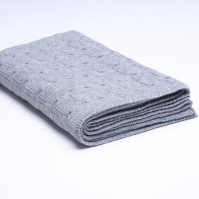 Überwurf Zopfmuster | Grau