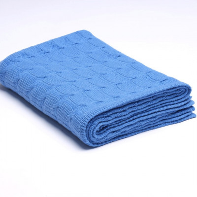 Überwurf Zopfmuster | Königsblau