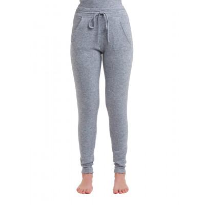 Gestrickte Hosen für Frauen | Medium Grau