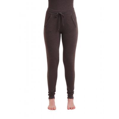 Gestrickte Hosen für Frauen | Dunkelbraun