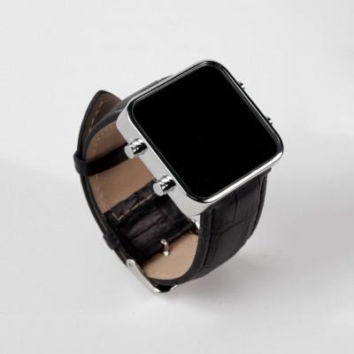 Digital Watch | Silver, Black Mat