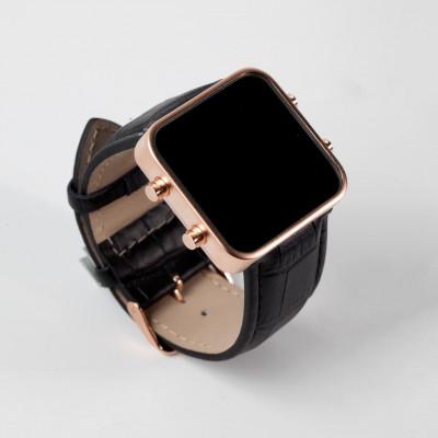 Digital Watch | Gold, Black Mat