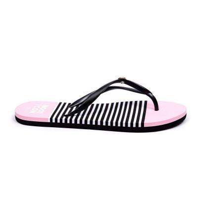 Flip Flops | Black & Pink