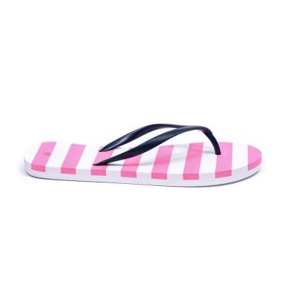 Flip Flops | White & Pink
