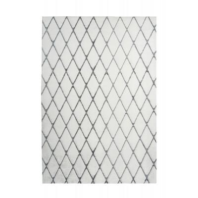 Teppich Nora 433 | Weiß - Anthracit