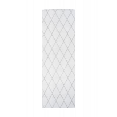 Teppich Nora 433 - 80 x 250 | Weiß - Graublau