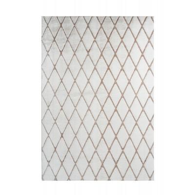 Teppich Nora 433 | Weiß - Taupe