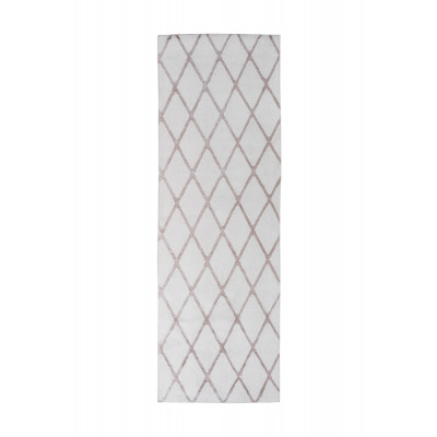 Teppich Nora 433 - 80 x 250 | Weiß - Taupe
