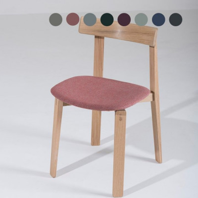 Stuhl Nora | Weißöl / Stoff