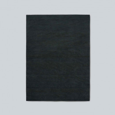Teppich Row Medium | Dunkelgrün