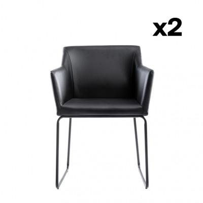 2er-Set Stühle Norwich | Schwarz