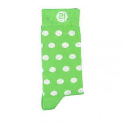 Unisex-Socken   Grüne Punkte