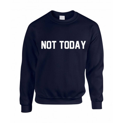 Not Today Men's Sweater | Blue