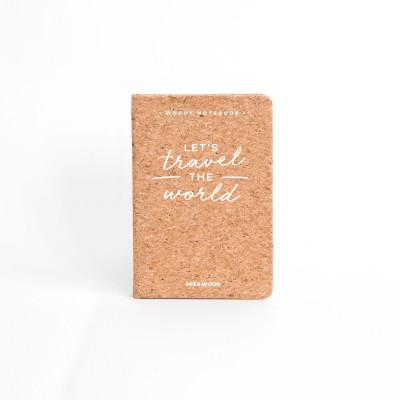 Cork Notebook A6 | Travel the World