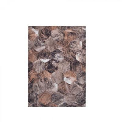 Nova Patchwork Teppich | Braun
