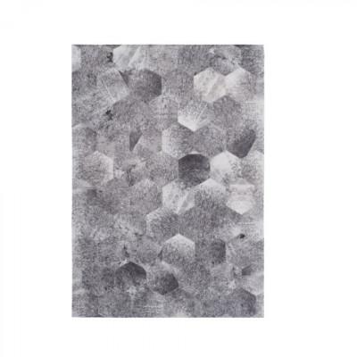 Nova Patchwork Teppich | Grau