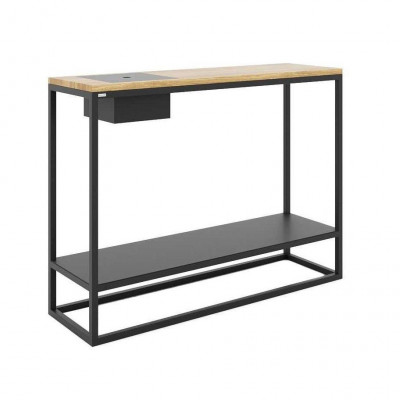 NELSON Console Table   Black & Oak