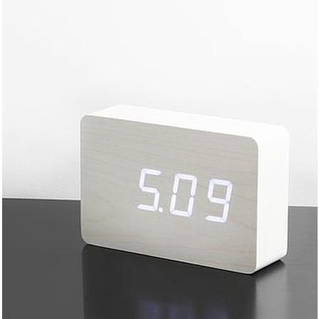 Brick Click Clock | White & White