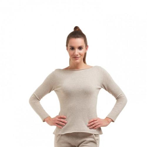 Pullover mit langen Ärmeln für Frauen   Beige