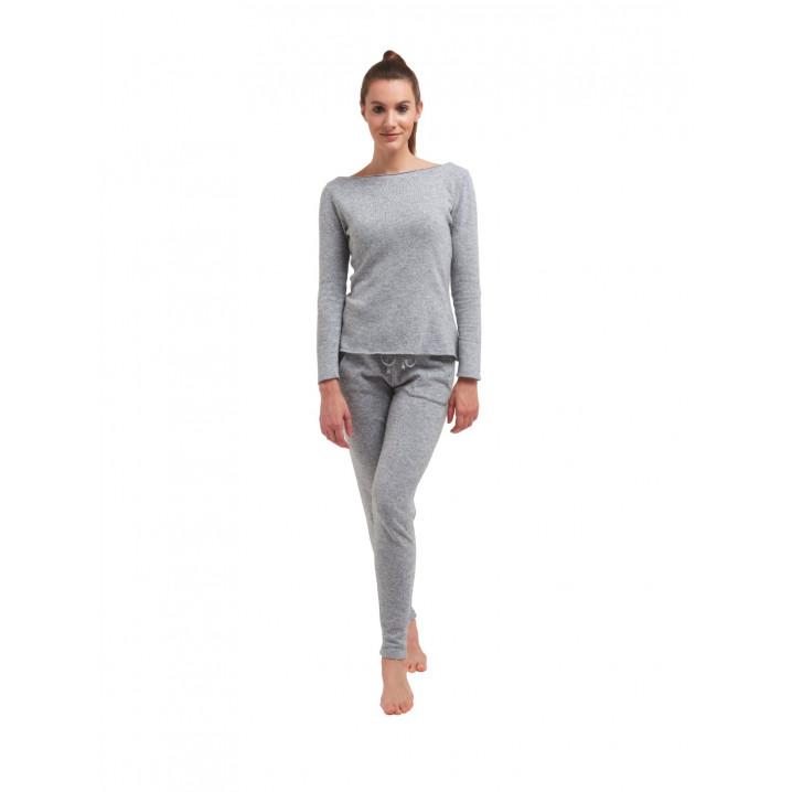 Pullover mit langen Ärmeln für Frauen   Medium Grau