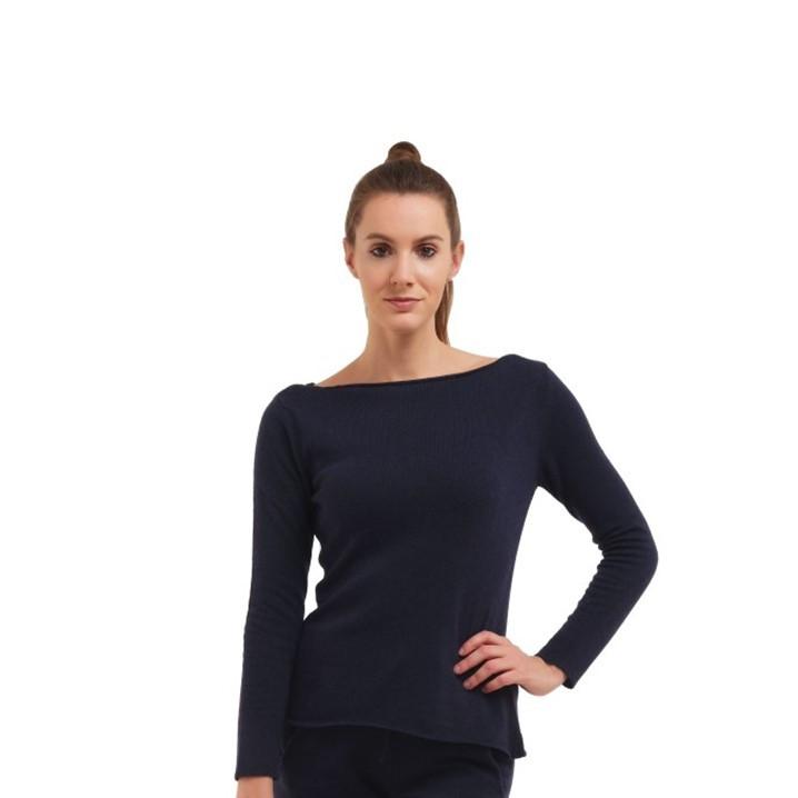 Pullover mit langen Ärmeln für Frauen   Marineblau