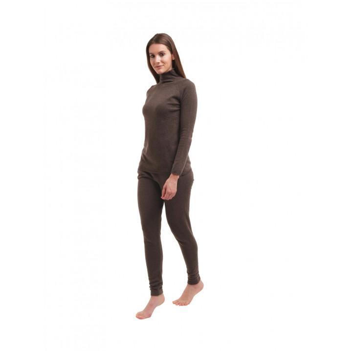 Rollkragenpullover mit langen Ärmeln für Frauen | Dunkelbraun