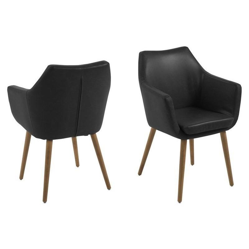 Set of 2 Armchairs Ronka   Black