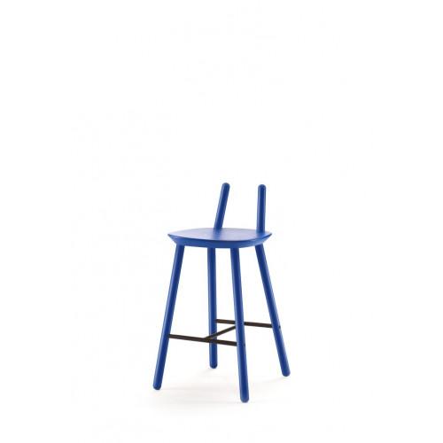 Semi-Barhocker Naiv | Blau
