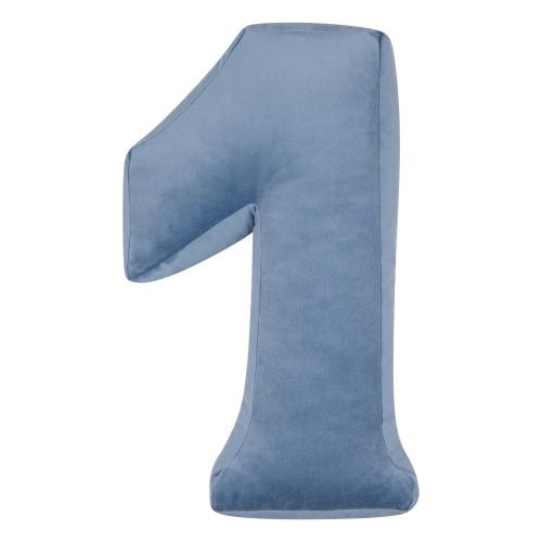 Kussen Nummer Velvet Blauw | 1
