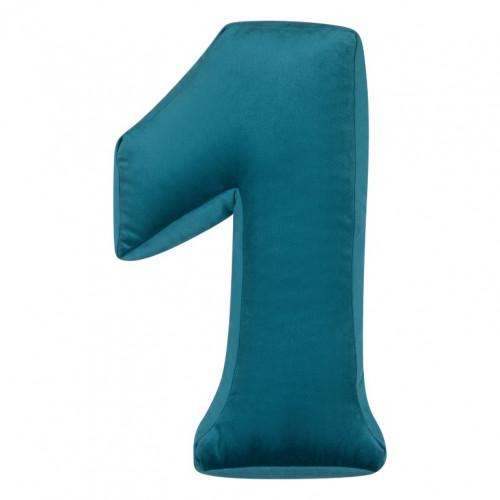 Kissen Samt Nummer Smaragd | 1