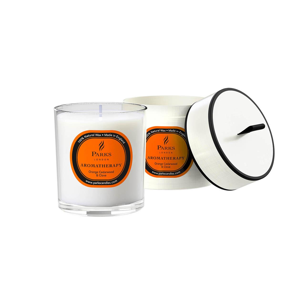 Duftkerze Orange, Zeder und Nelke