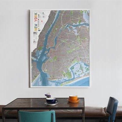 Stadtplan Wald/Orange | New York