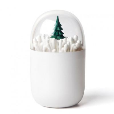 Wattestäbchenhalter Winterzeit | Weiß