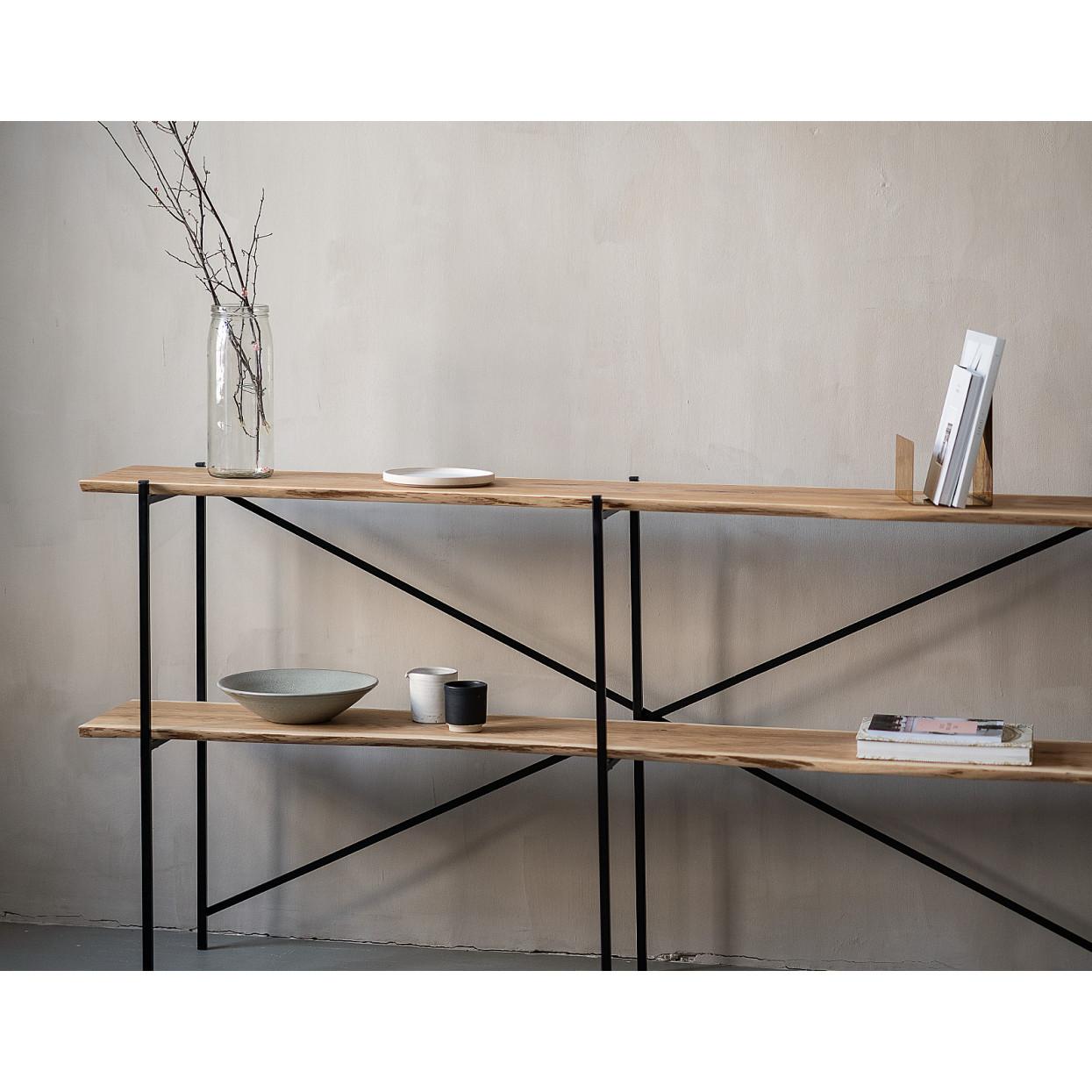 Shelf Oak Steel