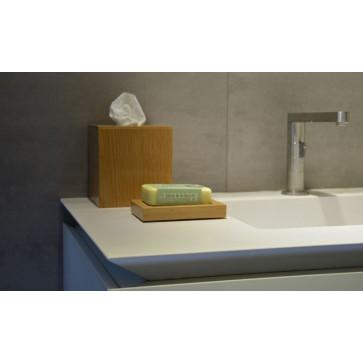 Tissue Box Mezza Cube | Light Wood