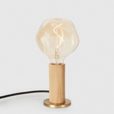 Tischlampe  Knuckle mit Voronoi I Glühbirne   Eiche