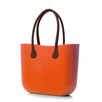O Tasche braune Ledergriffe   Brick Orange
