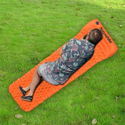 Aufblasbare Luftmatratze für den Außenbereich Einzel | Orange