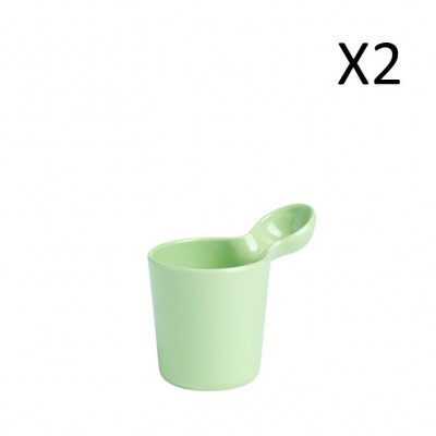 Mug Green 250 ml | Set of 2