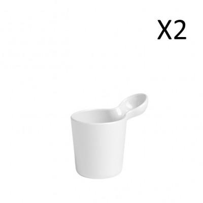 Mug White 250 ml | Set of 2