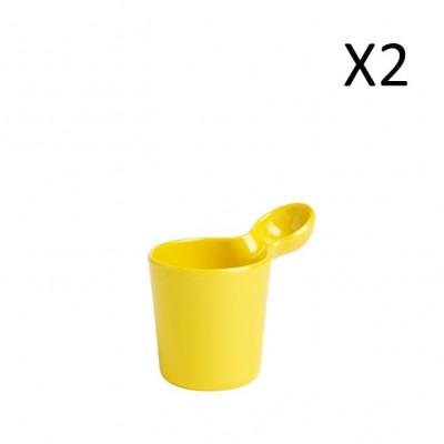 Mug Yellow 250 ml | Set of 2