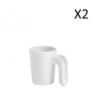 Mug White 300 ml | Set of 2