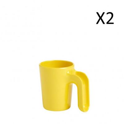 Mug Yellow 300 ml | Set of 2