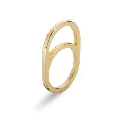 Gerahmter Ring O | Gold
