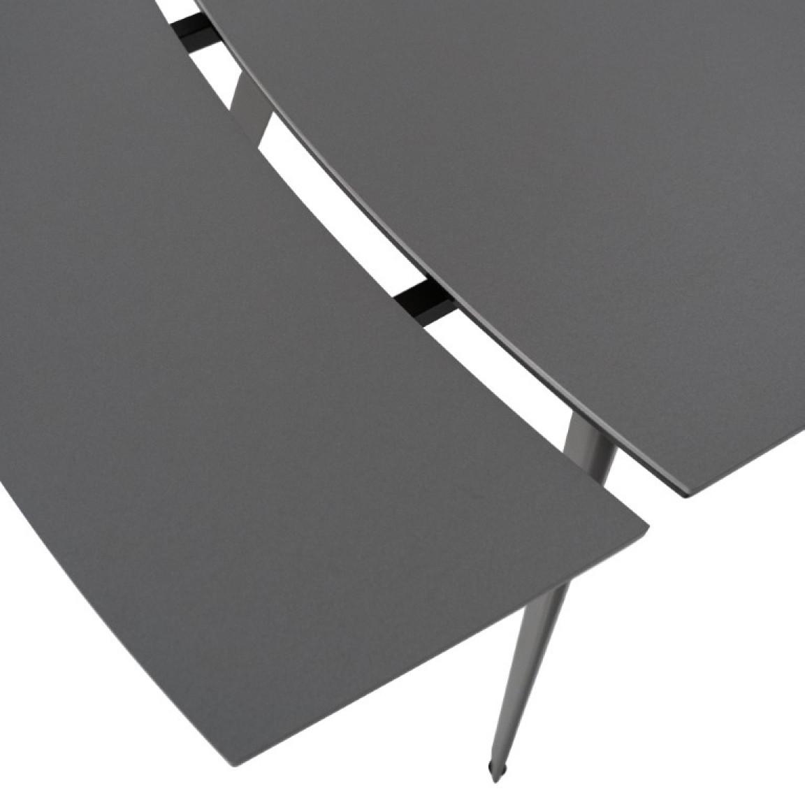 Verlängerbarer Tisch 140 / 170 / 200 cm   Grau