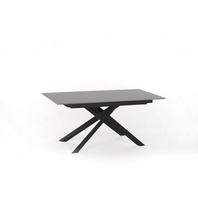 Verlängerbarer Tisch | Hellgrau & Schwarz