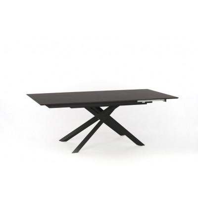 Verlängerbarer Tisch | Dunkelgrau & Schwarz