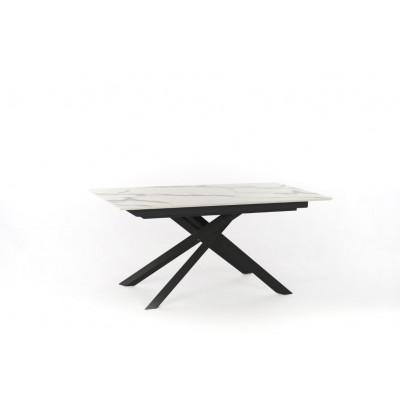 Verlängerbarer Tisch | Marmor & Schwarz