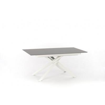 Verlängerbarer Tisch | Hellgrau & Weiß